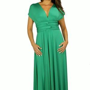 ULTRAMARINE GREEN BRIDESMAID CONVERTIBLE DRESS